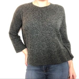 Madewell Gray Long Sleeve Pullover Top